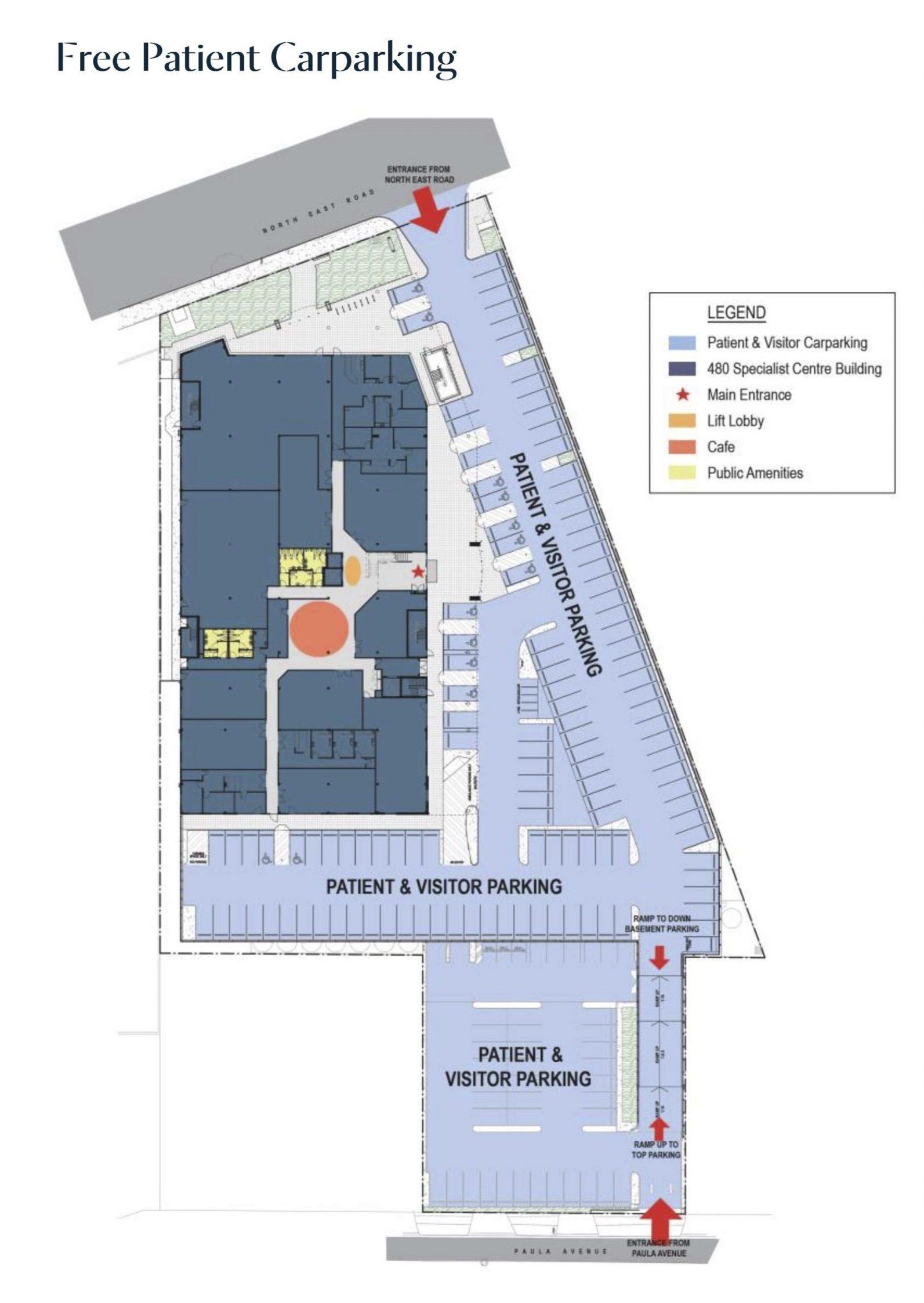 480NE Visitor Car Park plan